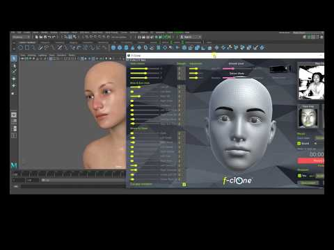 Autodesk MAYA real time markerless facial mocap pipeline tutorial f-clone