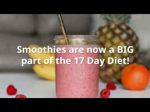 Smoothie Recipes for the 17 Day Diet (Transitional Day Fast)