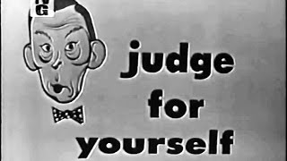 Judge For Yourself w FRED ALLEN - Presidential idiosyncrasies - Intro by Frank Gorshin (Mar 2, 1954)