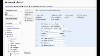 Niemiecki online - ćwiczenia gramatyczne
