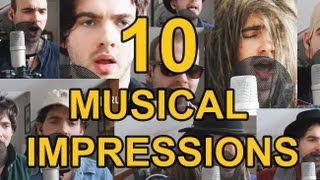 10 SINGING IMPRESSIONS | Damien Slash thumbnail