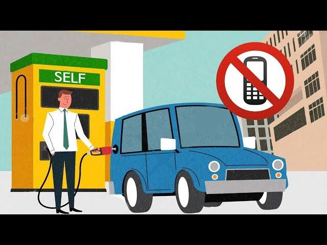 Pourquoi le téléphone à la station service est-il interdit ?