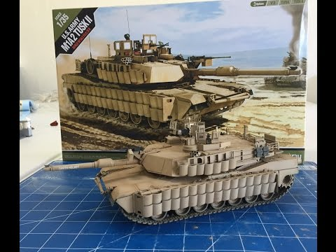 Building the 1/35 Academy Models M1A2 Tusk 2 Abrams Tank