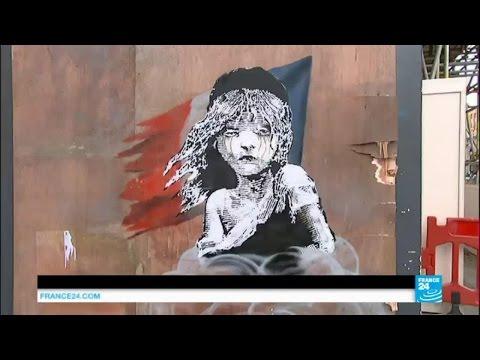 London: Banksy's 'Les Misérables' Mural Criticises Treatment Of Migrants In Calais