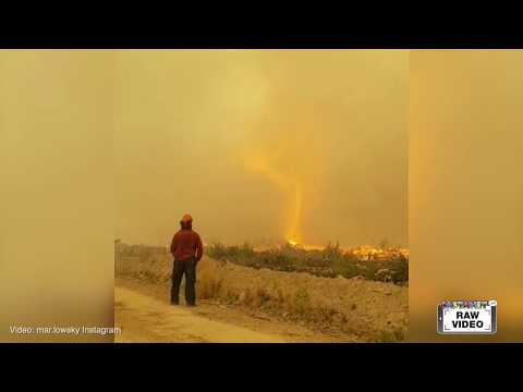 RAW: Fire tornado