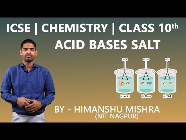 ICSE   Class 10th   Chemistry   Acid Bases Salt   How to write balanced chemical Reaction for Salt