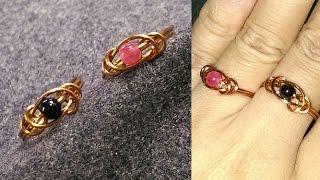 wire copper ring - Tutorials super simple ring 185