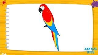 Обучающие видео. Уроки рисования карандашом для детей. Учимся рисовать попугая Ара.(Обучающие видео. Уроки рисования карандашом для детей. Учимся рисовать попугая Ара https://youtu.be/EvJbPGcOHa0 По прос..., 2016-12-07T19:49:07.000Z)