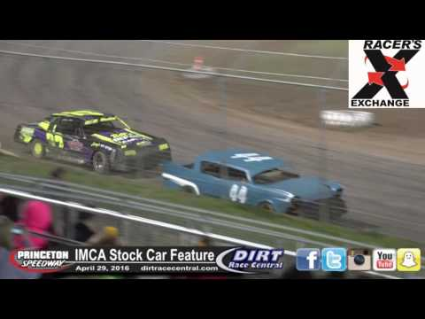 Princeton Speedway 4/29/16 IMCA Stock Car Feature Final Laps