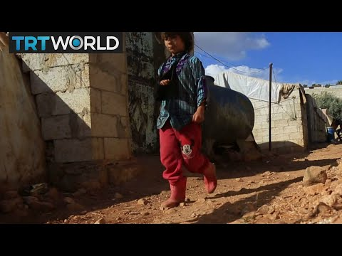 The War in Syria: Refugees fleeing Raqqa shelter in Idlib camp