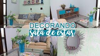 TRANSFORMAÇÃO DA SALA GASTANDO POUCO - PINTURA, DECORAÇÃO E DIY | #InaraTodoDia23