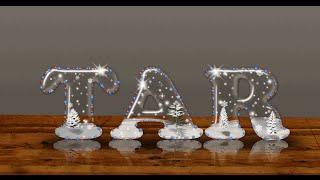 [Text Effect] Hiệu ứng chữ tuyết trong suốt ngày Noel