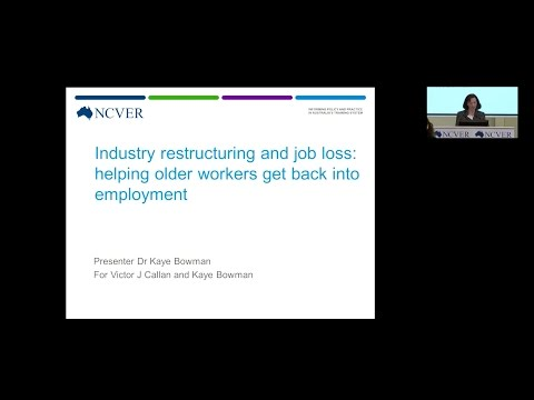 Industry restructuring and job loss: helping older workers get back into employment