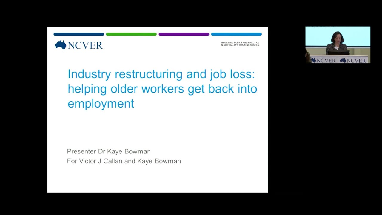 industry restructuring and job loss helping older workers get industry restructuring and job loss helping older workers get back into employment