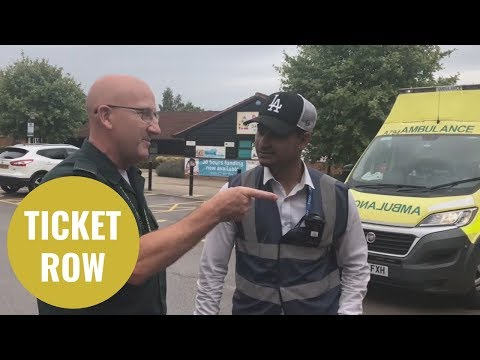 Shocking Moment A Ticket Warden Fines An Ambulance For Parking On Double Yellows
