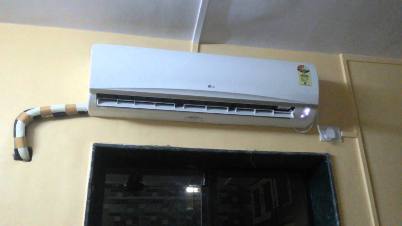 Hide Cable Wires How To Hide Copper Wire On Wall Mounted Ac Youtube