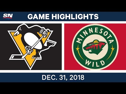 NHL Highlights | Penguins vs. Wild - Dec 31, 2018