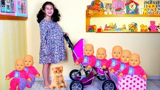 Alice takes care of babies | Alice plays with Baby dolls |Funny story for kids by Alice and TOYS