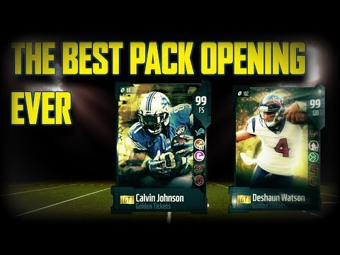 THE BEST PACK OPENING OF MY LIFE *GOLDEN TICKET PULL* | MADDEN 18 ULTIMATE TEAM