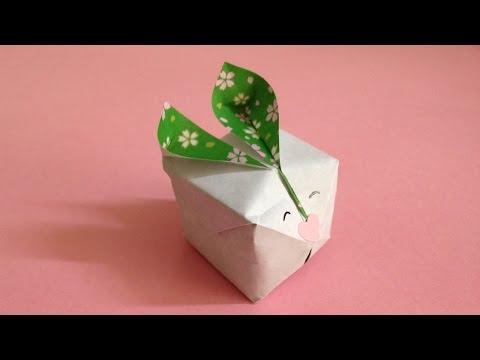 ハート 折り紙:折り紙 風船うさぎ-popmatx.com