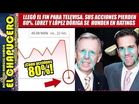 Se desploman 80% acciones de Televisa mientras Loret y López Dóriga se hunden en ratings