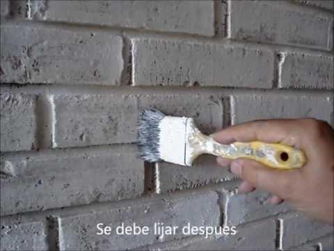 CMO PINTAR PTINA Sobre La PARED De LADRILLO  Provenzal