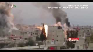 RUSSIAN HELICOPTERS AIRSTRIKE ATTACKING SYRIA  ISIS IN PANIC