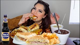 CUBAN SANDWHICH MUKBANG | Eating Show
