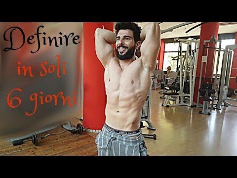 dieta per la definizione muscolare estrema