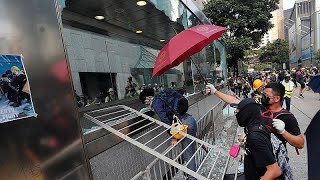 Chaos erupted at numerous locations on Hong Kong island