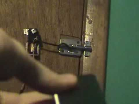 Homemade Wireless magnetic door locking system