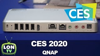 QNAP Booth at CES 2020: New AI Security Software & Conferencing Software