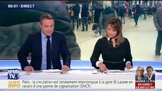 La circulation totalement interrompue à la gare Saint-Lazare