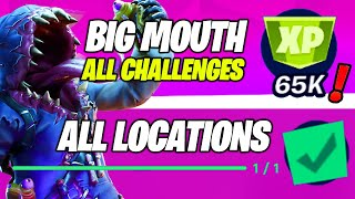 *ALL* BIG MOUTH CHALLENGES - Chests Steel Farm, Ammo Dirty Docks, Supply Drop, Ice Machine Locations