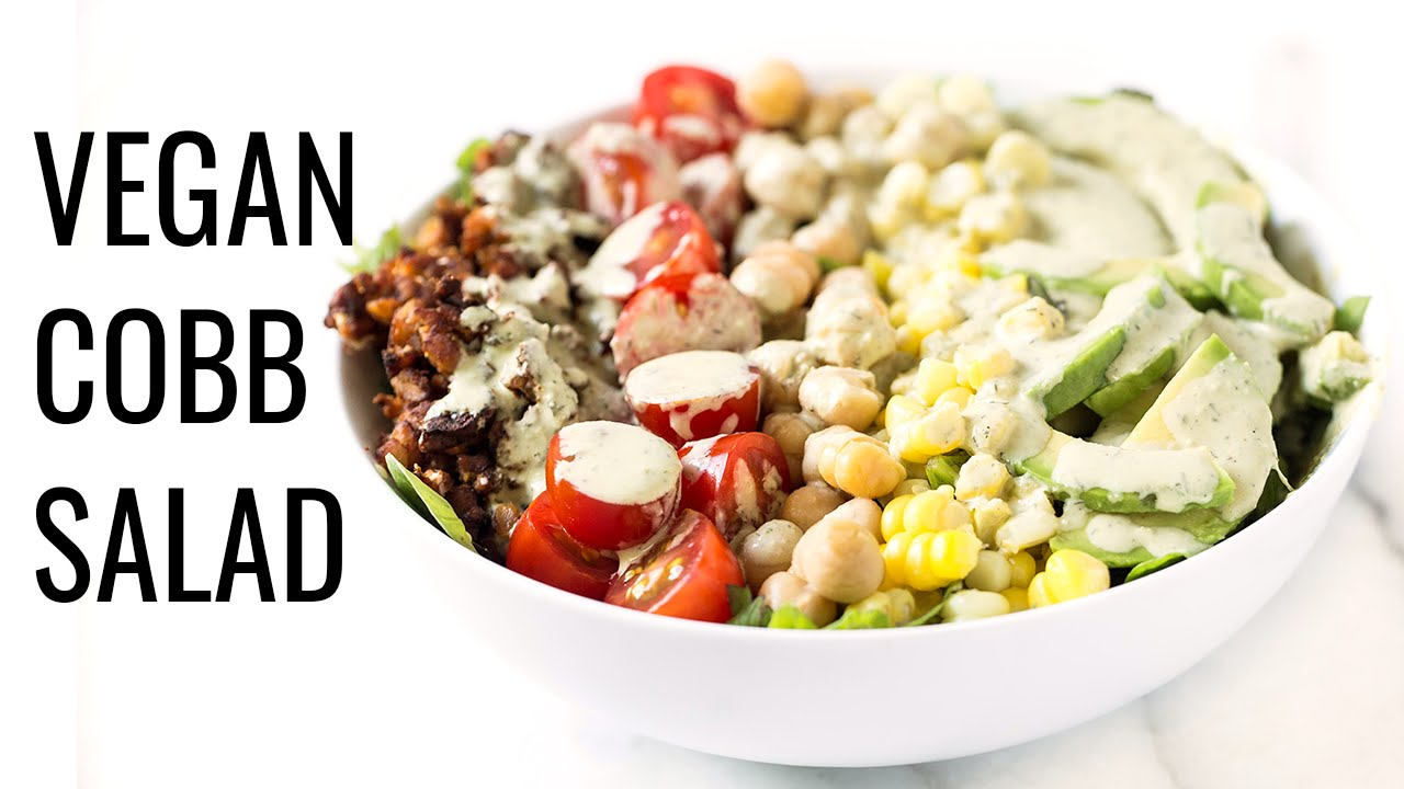 VEGAN COBB SALAD WITH TEMPEH BACON | #saladweek
