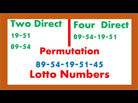 How To Win Lotto From 89 19 54 51 45