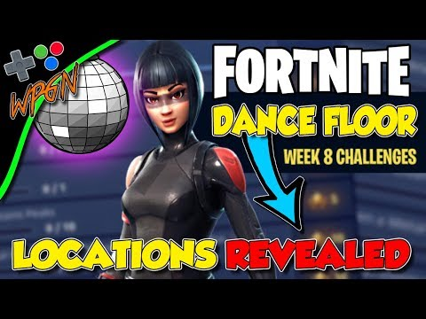 Fortnite : Week 8 Challenges | Dance On Different Dance Floors | Locations
