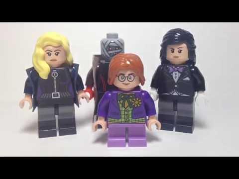 Custom LEGO DC Comics Black Canary, Hush, Toyman, and Zatanna Minifigure Updates
