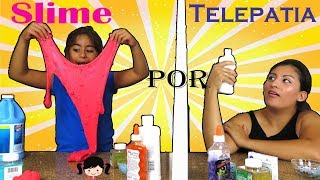 Reto Haciendo Slime por Telepatia con Mamí