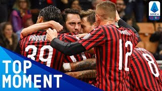 Çalhanoğlu Scores A Wonder Goal From Tight Angle! | Milan 2-2 Lecce | Top Moment | Serie A