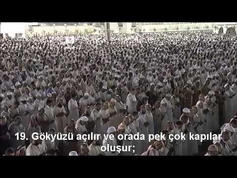 Nebe Suresi Kabe imamı Sudais Türkçe Altyazılı Mealli