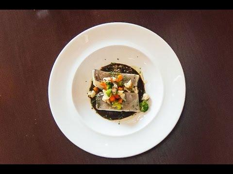 Bacalao confitado con salsa de ajo negro youtube - Bacalao con garbanzos y patatas ...