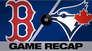 Blue Jays Blank Red Sox In 8 0 Win Red Sox Blue Jays Game Highlights 9 11 19