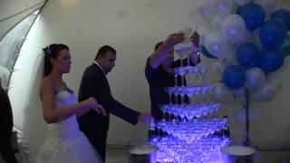 видео горка шампанского
