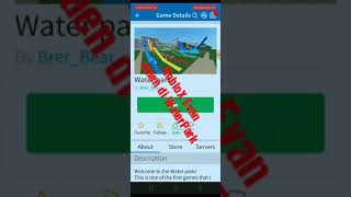 vidio game Roblox di water park