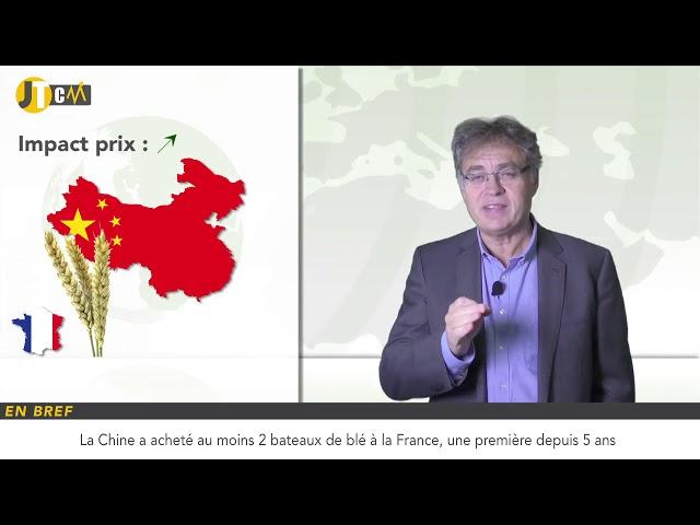 La Chine importe du blé français !