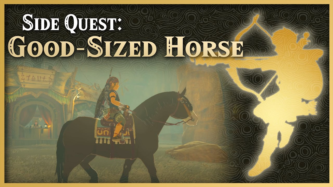 Zelda Breath Of The Wild Good Sized Horse Wasteland Side Quest