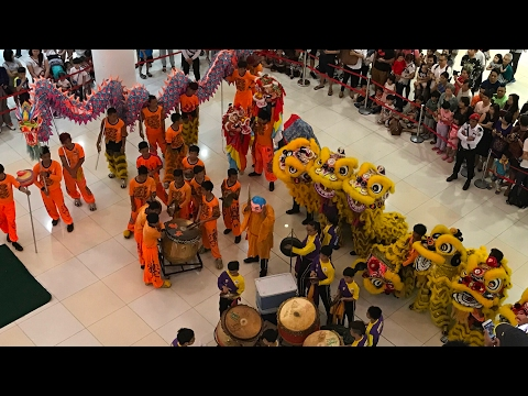 Suria Sabah Shopping Mall - Che Sui Khor Dragon, Unicorn and  Lion Dance Performance 2017