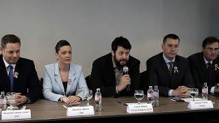 Sajtótájékoztató az LMP-vel és a Jobbikkal való megállapodásról