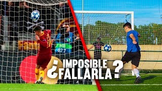 ¿IMPOSIBLE FALLARLA? *EL NO GOL del ROMA-REAL MADRID* ¡Retos de Fútbol!